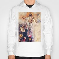 christ Hoodies featuring  Jesus Christ by jbjart