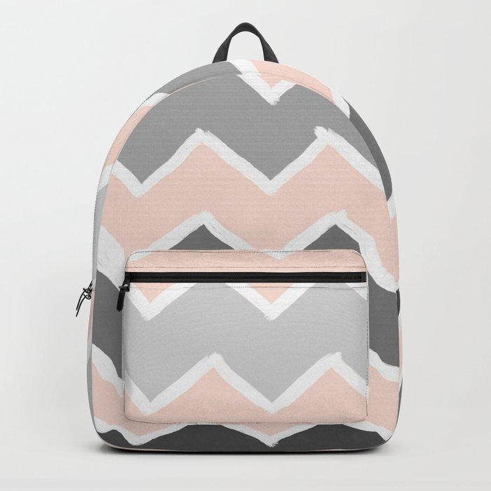 Blush and Greys Zick Zack Brush No.2 Backpack