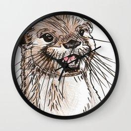 Inktober #16 2017 - Otter Wall Clock