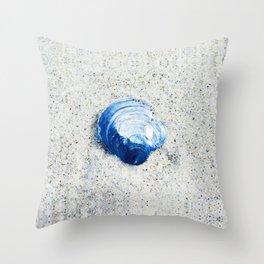 Blue Seashell By Sharon Cummings Throw Pillow