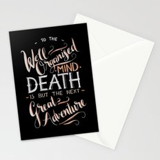 Well Organised Mind - Black Stationery Cards
