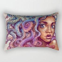 Sea Foam Freckles Rectangular Pillow