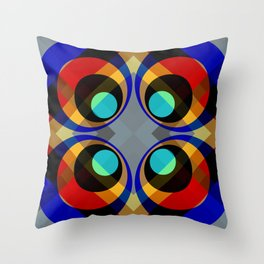 Retro Rocket 31 Throw Pillow