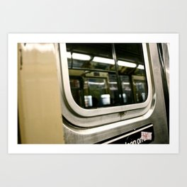 Subway Ride Art Print