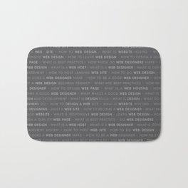 Grey Web Design Keywords Bath Mat