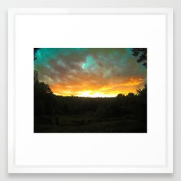 sunrise on the back 4 Framed Art Print