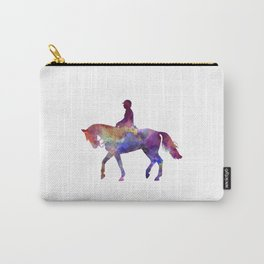 Horse show 02 in watercolor Carry-All Pouch