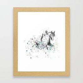 Horse (Rainy canter) Framed Art Print