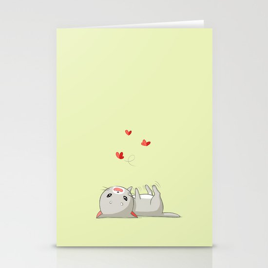 Playing Kitten Stationery Cards