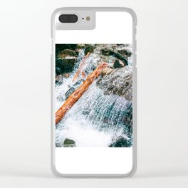 Creek bed in Squamish, Canada Clear iPhone Case