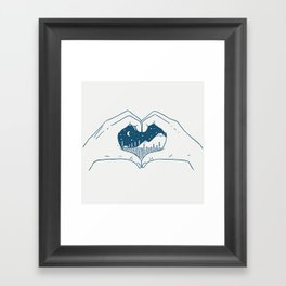 Love Nature Framed Art Print