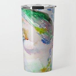 QUEEN VICTORIA - watercolor portrait Travel Mug