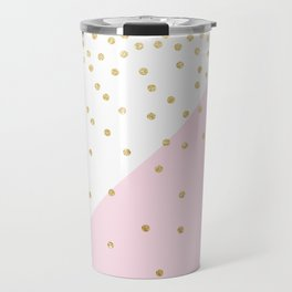 Elegant modern girly faux gold glitter confetti Travel Mug