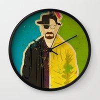 heisenberg Wall Clocks featuring Heisenberg by Danny Haas