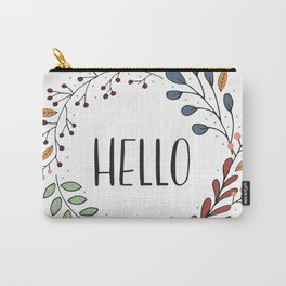 Hello Fall Wreath Carry-All Pouch