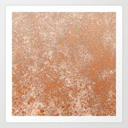 Whispering Wall, Terracotta Art Print
