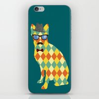 terrier iPhone & iPod Skins featuring Argyle Terrier  by David Andrew Sussman