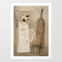 milk Art Prints featuring milk by woman
