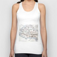 jamaica Tank Tops featuring Map Section: Jamaica by Shaunia McKenzie
