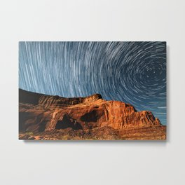 Stars on the Cliffside Metal Print