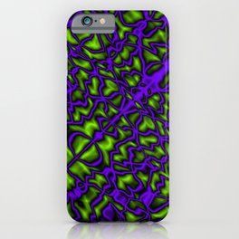 Bacteriological symmetry of a clear pattern of violet veins and outlined droplets in the meat iPhone Case