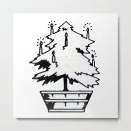 Christmas tree. Metal Print