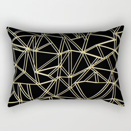 Ab Gold and Silver Rectangular Pillow