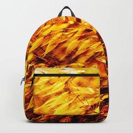Golden Summer Weeds Windy Day Backpack