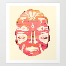Cloud Face I Art Print