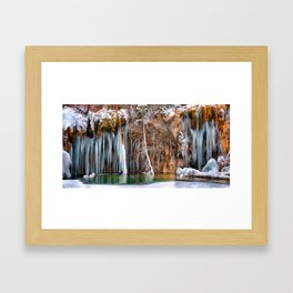 A spring that knows no summer  - Hanging Lake print  by Lena Owens Framed Art Print