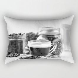Black and white coffee bar Rectangular Pillow