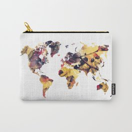 world map 78 yellow Carry-All Pouch
