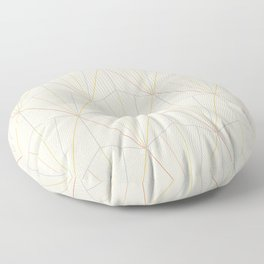 Gisela Geometric Line Pattern - Rainbow Floor Pillow