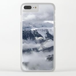 Winter Mountainscape Clear iPhone Case