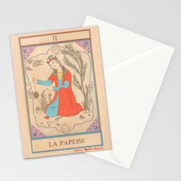 Tarot card-The Popess-The High Priestess-La Papesse Stationery Cards