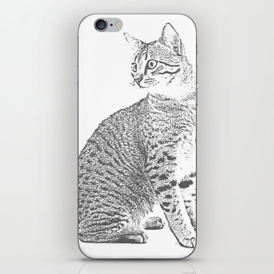 Cat Sketch iPhone Skin