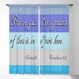 1 Corinthians 13 The Greatest of These Blackout Curtain