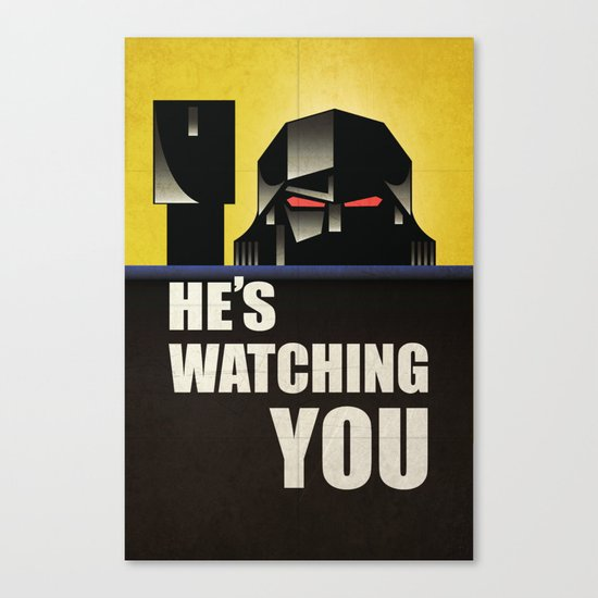 he's watching you. Canvas Print