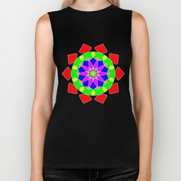 Mandala in vibrant colors Biker Tank