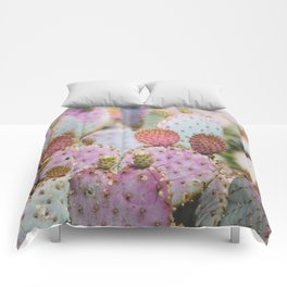 Cotton Candy Cacti Comforters