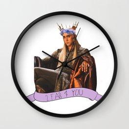 Thranduil - Flower Crown Wall Clock