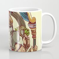 ganesha Mugs featuring Ganesha by Pirates of Brooklyn