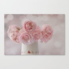 Love Hearts and Roses Canvas Print