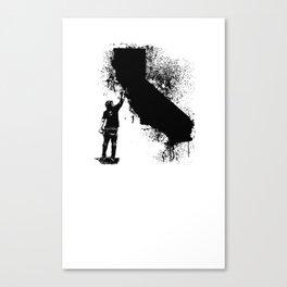 California Tagger Black Canvas Print
