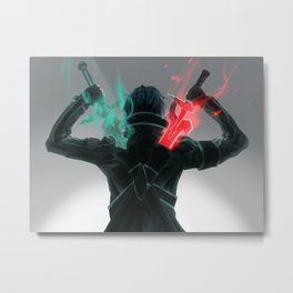 SAO Double Sword Metal Print