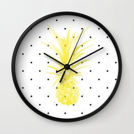 Golden Fruit Wall Clock