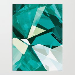 Turquoise Quartz Royal Stain Poster
