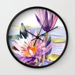 Water Lily,  Lotus Wall Clock
