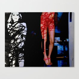 Defaced Kate Canvas Print