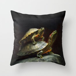Piggybacking Throw Pillow